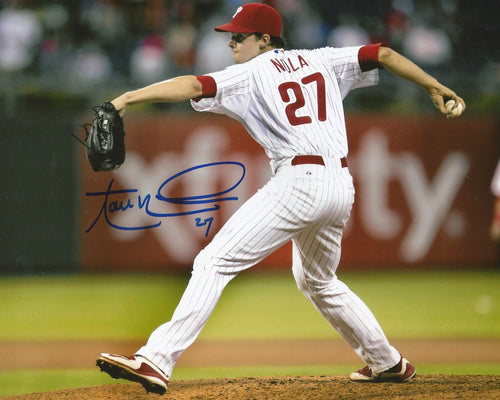 Aaron Nola Philadelphia Phillies Autographed Photo (Pitching) - Dynasty Sports & Framing