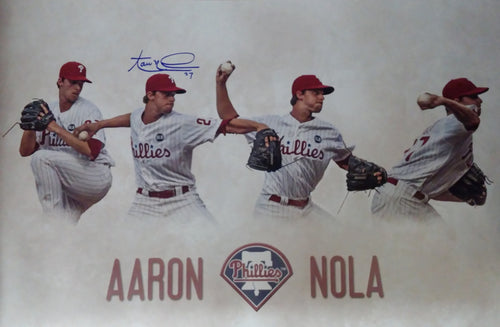 "Aaron Nola Philadelphia Phillies Autographed 16"" x 24"" Collage - Dynasty Sports & Framing"