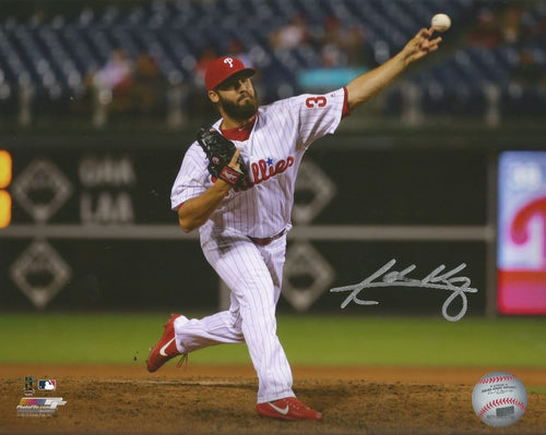 "Adam Morgan Philadelphia Phillies Autographed MLB Baseball 8"" x 10"" Photo"