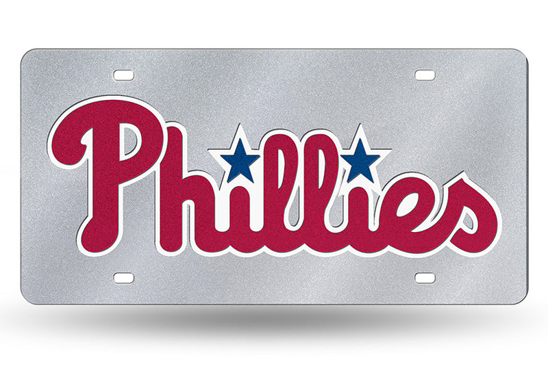 Philadelphia Phillies MLB Laser Cut Bling Wordmark License Plate