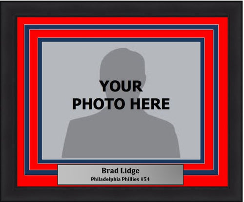 Philadelphia Phillies Brad Lidge Horizontal Photo Picture Frame Kit with Commemorative Nameplate - Dynasty Sports & Framing