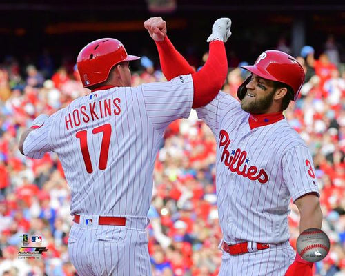 "Rhys Hoskins & Bryce Harper Philadelphia Phillies MLB Baseball 8"" x 10"" Photo"