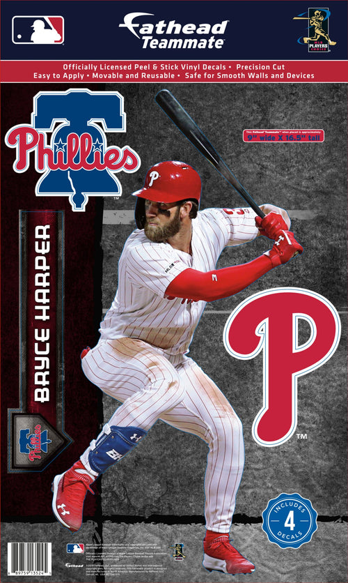 Bryce Harper Philadelphia Phillies Baseball Fathead - Dynasty Sports & Framing