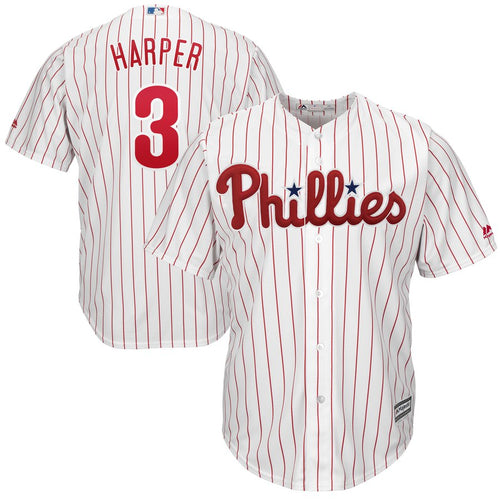 Phillies Bryce Harper Official Player Jersey in White - Philadelphia Phillies - Dynasty Sports & Framing