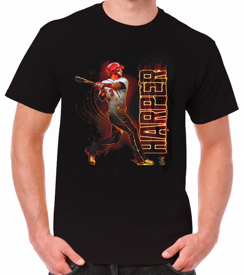 Bryce Harper Philadelphia Phillies On Fire T-Shirt