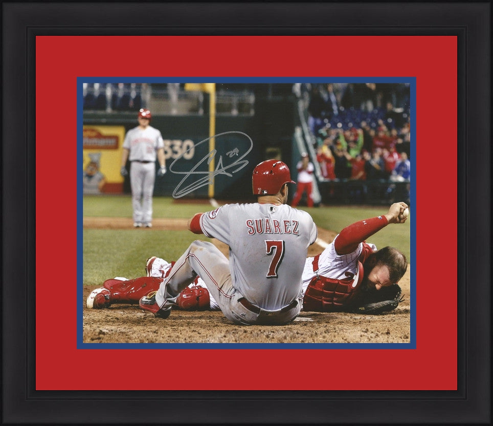 Philadelphia Phillies Cameron Rupp Hit at Home Plate Autographed MLB ...