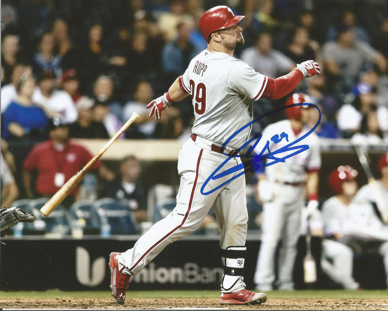 Cameron Rupp Philadelphia Phillies Autographed Swing Photo - Dynasty Sports & Framing