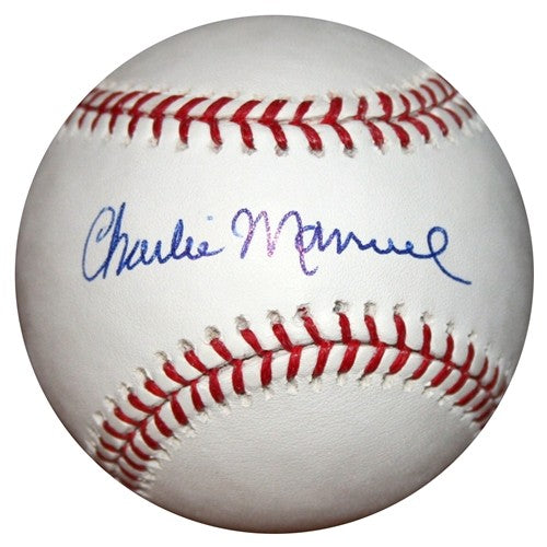 Charlie Manuel Philadelphia Phillies Autographed MLB Baseball - Dynasty Sports & Framing