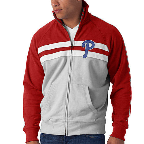 Philadelphia Phillies MLB Baseball '47 Brand Double Play Full Zip Track Jacket - Dynasty Sports & Framing