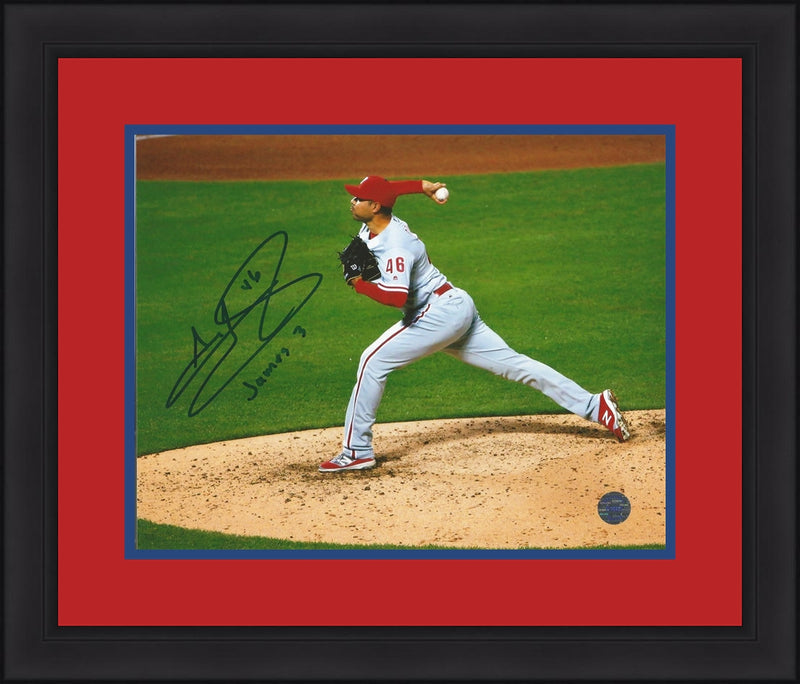Jeanmar Gomez Philadelphia Phillies Autographed Framed and Matted Photo - Dynasty Sports & Framing