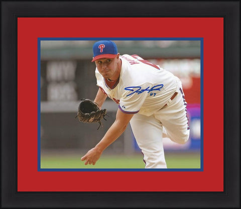 "Jeremy Horst Philadelphia Phillies Autographed 8"" x 10"" Framed and Matted Photo - Dynasty Sports & Framing"