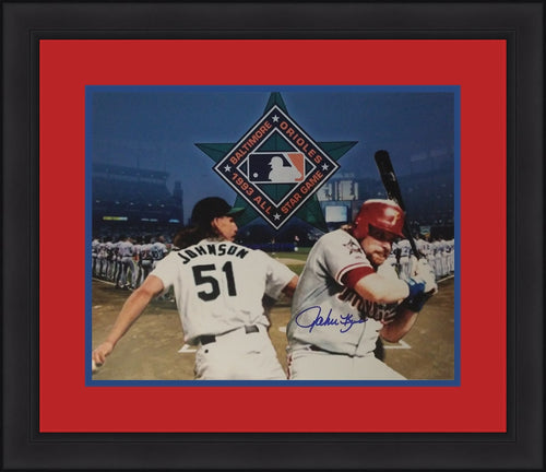 "John Kruk Philadelphia Phillies Autographed 1993 11"" x 14"" Framed and Matted All-Star Collage - Dynasty Sports & Framing"