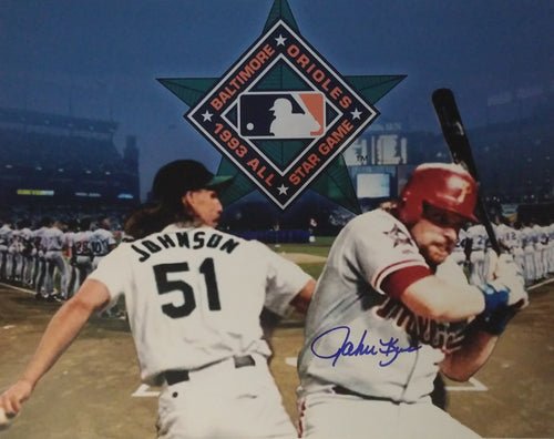 "John Kruk Philadelphia Phillies Autographed 1993 All-Star 11"" x 14"" Collage - Dynasty Sports & Framing"