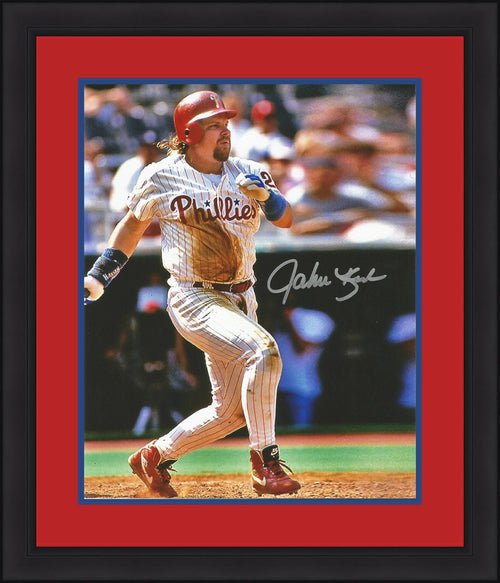John Kruk Philadelphia Phillies Autographed Home Framed and Matted Photo - Dynasty Sports & Framing