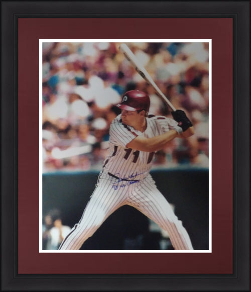 "John Kruk Philadelphia Phillies Autographed Vintage Framed and Matted 16"" x 20"" Photo w/ '93 NL Champs' Inscription - Dynasty Sports & Framing"
