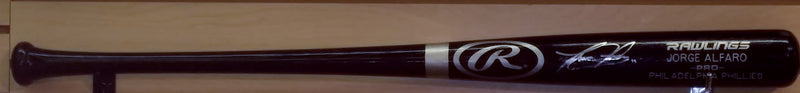 Philadelphia Phillies Jorge Alfaro Autographed Rawlings Black Bat with Engraved Name - Dynasty Sports & Framing