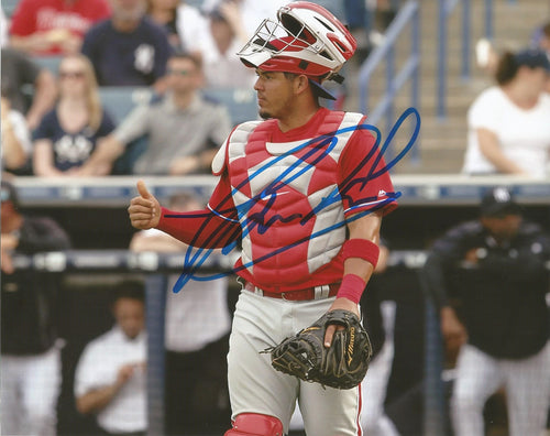 Jorge Alfaro Philadelphia Phillies Autographed Catcher Photo - Dynasty Sports & Framing