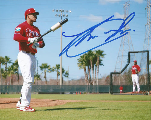 Jorge Alfaro Philadelphia Phillies Autographed On Field Photo - Dynasty Sports & Framing