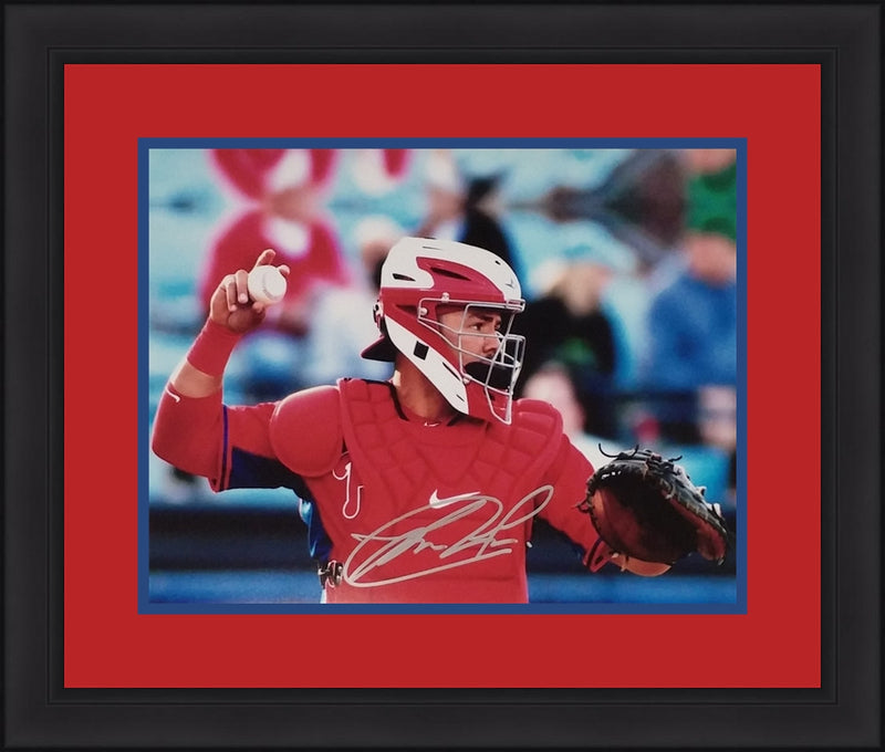 Jorge Alfaro Philadelphia Phillies Autographed Mask Framed and Matted Photo - Dynasty Sports & Framing