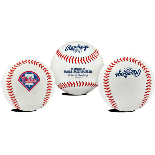 Philadelphia Phillies Logo Rawlings Baseball with Clamshell