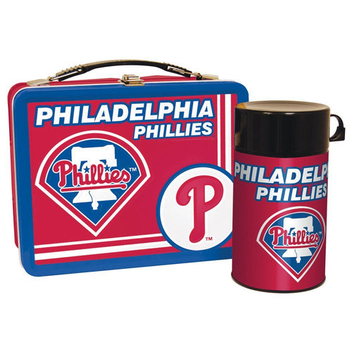 Philadelphia Phillies MLB Baseball Tin Lunch Box with Thermos