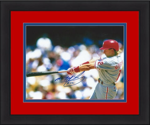 "Mickey Morandini Philadelphia Phillies Autographed 8"" x 10"" Framed and Matted Photo - Dynasty Sports & Framing"