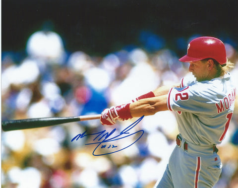 "Mickey Morandini Philadelphia Phillies Autographed 8"" x 10"" Photo - Dynasty Sports & Framing  - 1"