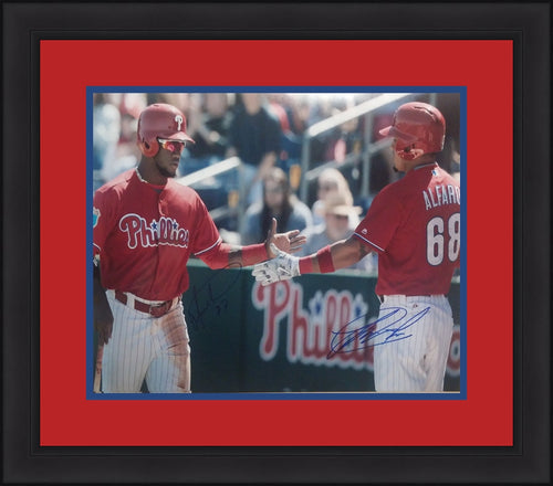 "Odubel Herrera/Jorge Alfaro Philadelphia Phillies Autographed 16"" x 20"" Framed and Matted Photo - Dynasty Sports & Framing"
