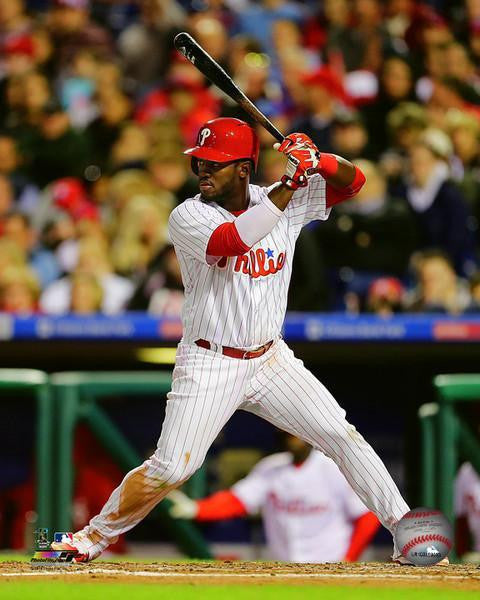 Odubel Herrera Philadelphia Phillies At-Bat MLB Baseball Photo - Dynasty Sports & Framing