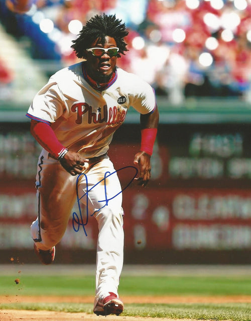 Odubel Herrera Philadelphia Phillies Autographed Running Photo - Dynasty Sports & Framing  - 1