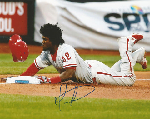 Odubel Herrera Philadelphia Phillies Autographed Slide Photo - Dynasty Sports & Framing  - 1