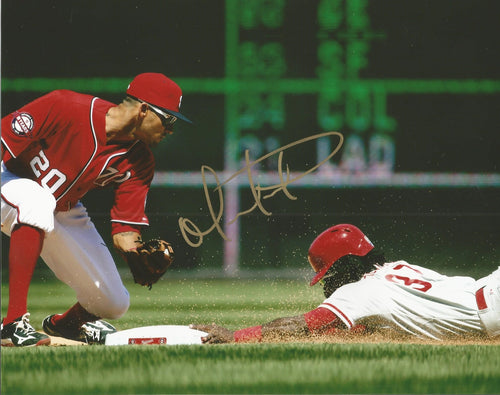 Odubel Herrera Philadelphia Phillies Autographed v. Nationals Photo - Dynasty Sports & Framing  - 1