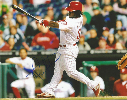 Odubel Herrera Philadelphia Phillies Autographed Batting Photo - Dynasty Sports & Framing  - 1