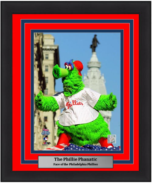 "Philadelphia Phillies Phanatic MLB Baseball 8"" x 10"" Framed and Matted Mascot Photo"