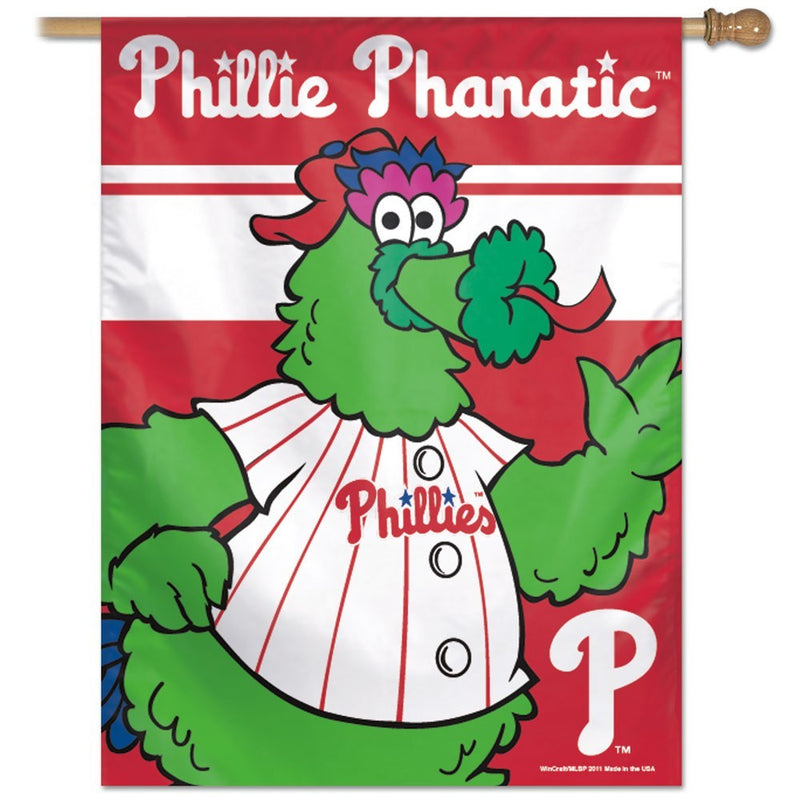 Philadelphia Phillies Phanatic MLB Baseball Vertical Flag - Dynasty Sports & Framing