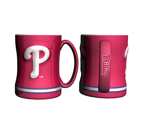 Philadelphia Phillies MLB Baseball Logo Relief 14 oz. Mug