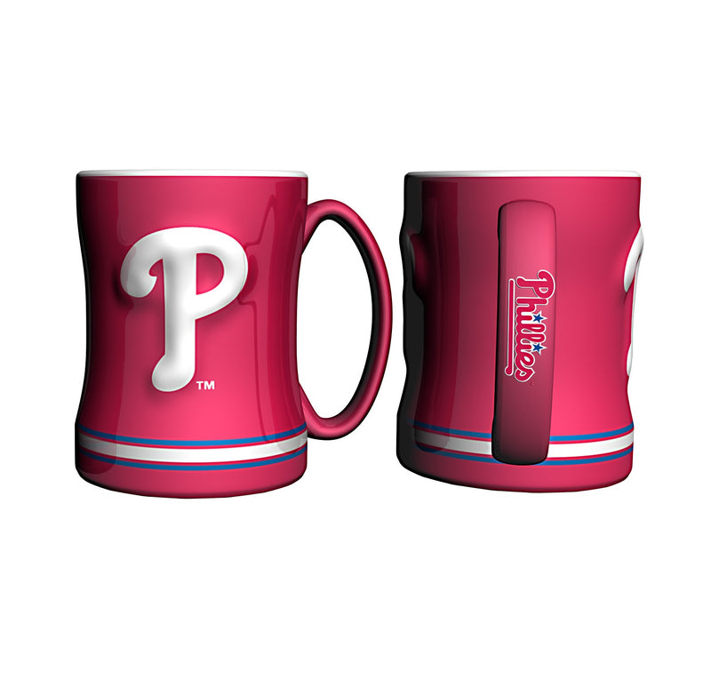 Philadelphia Phillies MLB Baseball Logo Relief 14 oz. Mug - Dynasty Sports & Framing