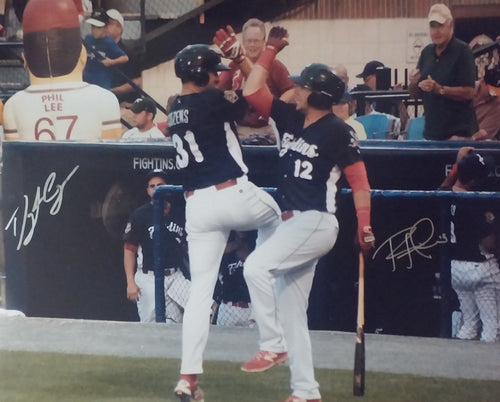 Rhys Hoskins and Dylan Cozens Philadelphia Phillies Dual-Autographed Photo - Dynasty Sports & Framing