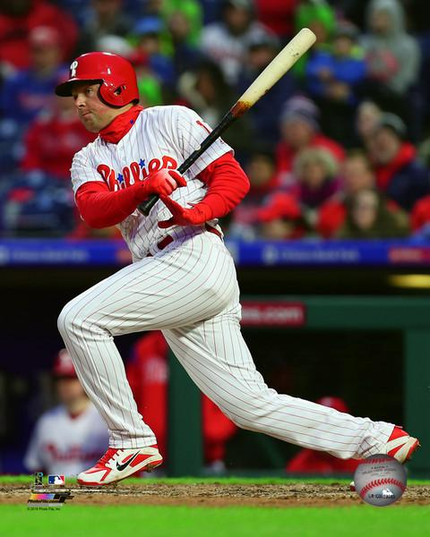 "Rhys Hoskins Philadelphia Phillies Swing & Run MLB Baseball 8"" x 10"" Photo - Dynasty Sports & Framing"