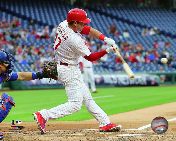 "Rhys Hoskins Philadelphia Phillies Swing MLB Baseball 8"" x 10"" Photo"