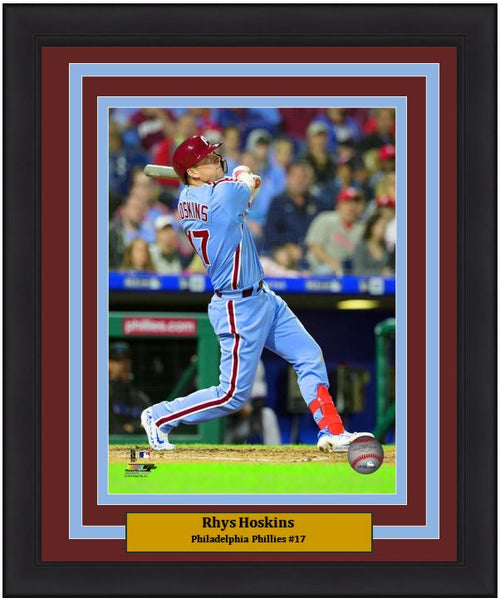 "Rhys Hoskins Philadelphia Phillies Throwback MLB Baseball 8"" x 10"" Framed and Matted Photo"