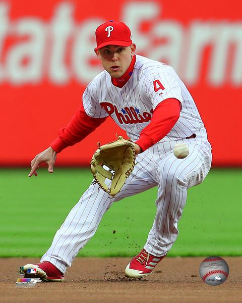 "Scott Kingery Philadelphia Phillies Infield Action MLB Baseball 8"" x 10"" Photo"