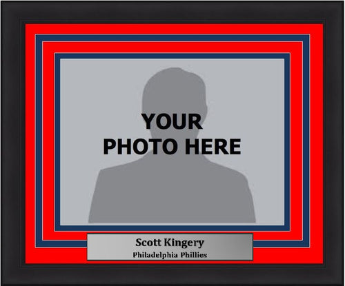 Philadelphia Phillies Scott Kingery Horizontal Photo Picture Frame Kit with Commemorative Nameplate - Dynasty Sports & Framing