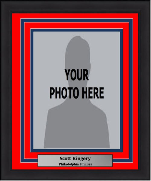 Philadelphia Phillies Scott Kingery Vertical Photo Picture Frame Kit with Commemorative Nameplate - Dynasty Sports & Framing
