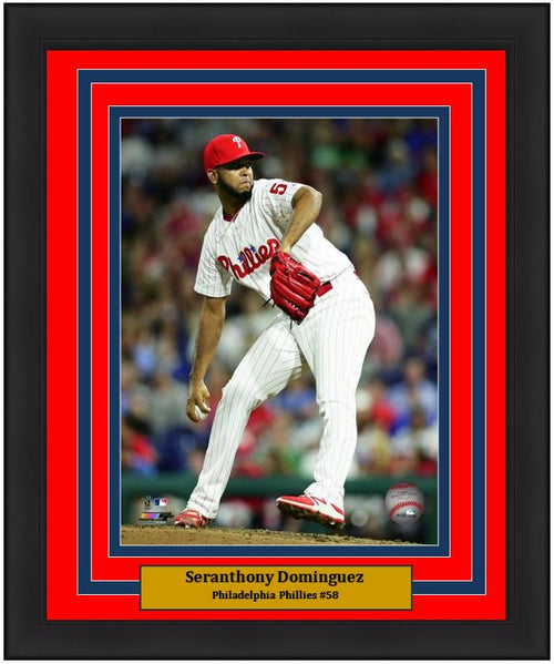 "Seranthony Dominguez Philadelphia Phillies on the Mound MLB Baseball 8"" x 10"" Framed and Matted Photo"
