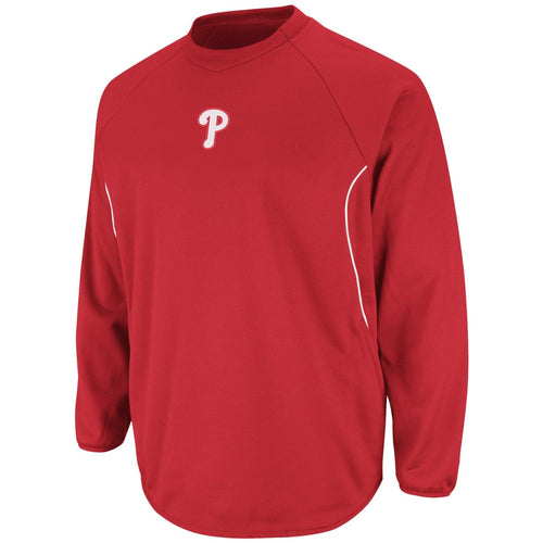 Philadelphia Phillies MLB Baseball Red Therma Base Tech Fleece Sweatshirt - Dynasty Sports & Framing