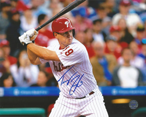 Tommy Joseph Philadelphia Phillies Autographed Batting Photo - Dynasty Sports & Framing