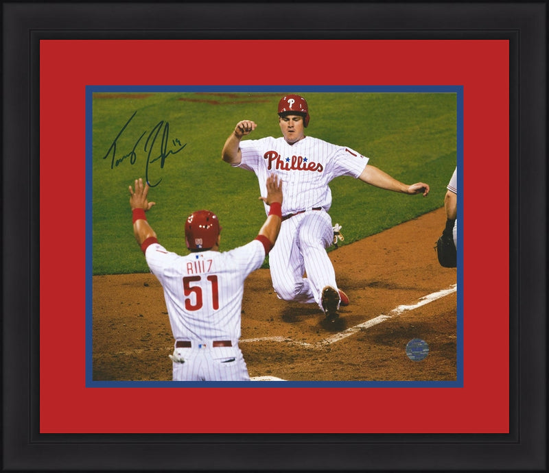 Tommy Joseph Philadelphia Phillies Autographed Slide Framed and Matted Photo - Dynasty Sports & Framing