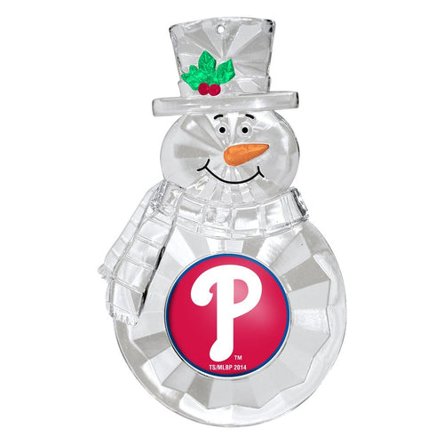 Philadelphia Phillies Snowman Holiday Ornament - Dynasty Sports & Framing