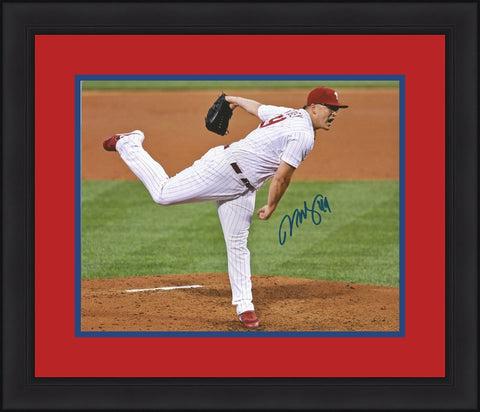 Vance Worley Philadelphia Phillies Home Throw Autographed Framed and Matted Photo - Dynasty Sports & Framing